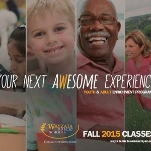 An award-winning brochure from Wayzata Community Education.