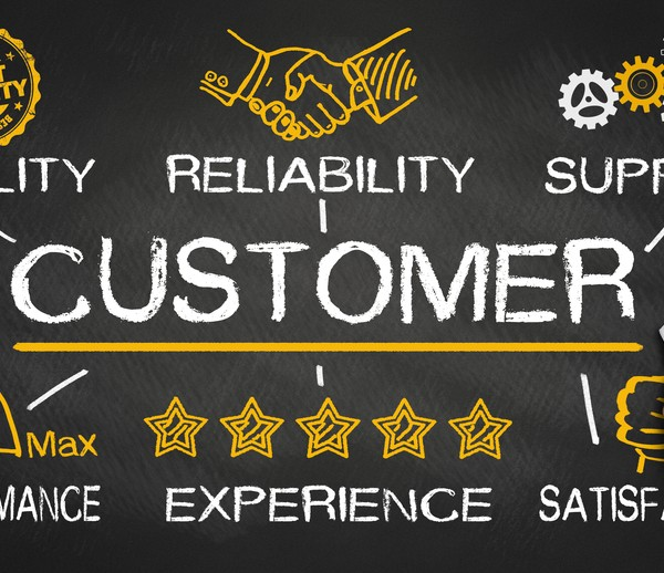 customer concept with business elements